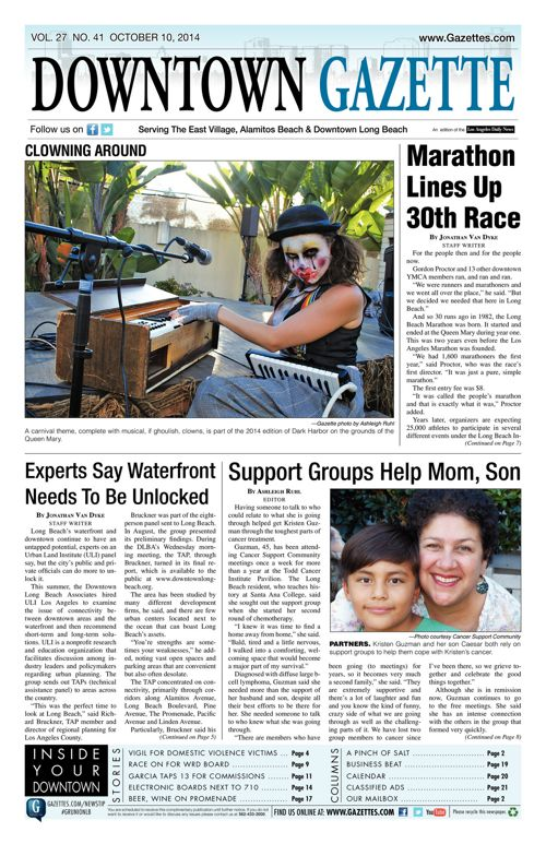 Downtown Gazette     October 10, 2014