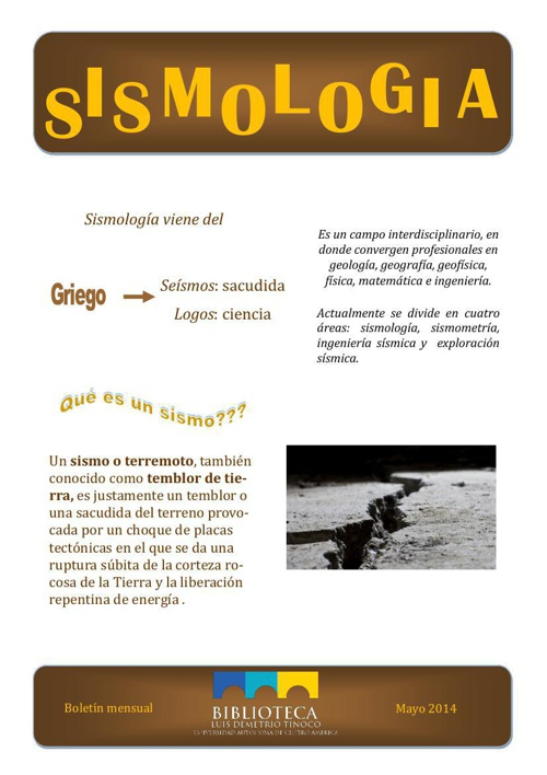 Boletín mensual Biblioteca MAYO 2014