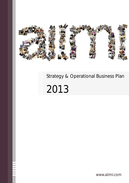 Aiimi Strategy and Operational Business Plan 2013 Brochure
