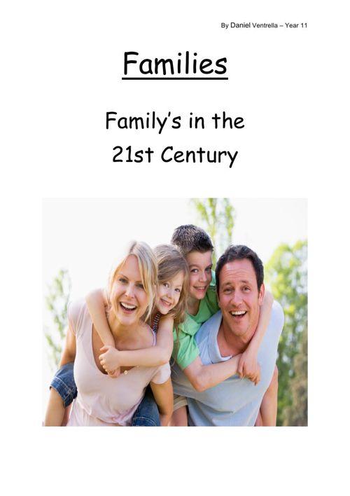 Families in the 21st Century - Daniel Ventrella - Year 11