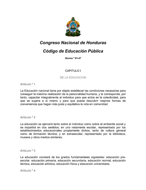CODIGO DE EDUCACION
