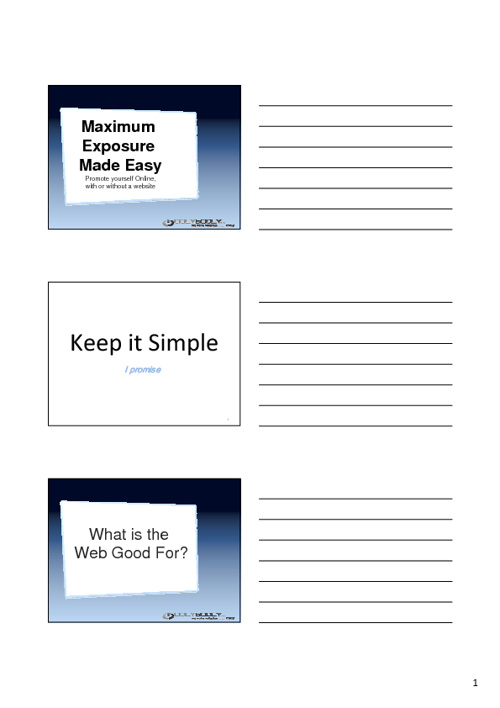 Maximise your exposure 2011 - SEO for Business