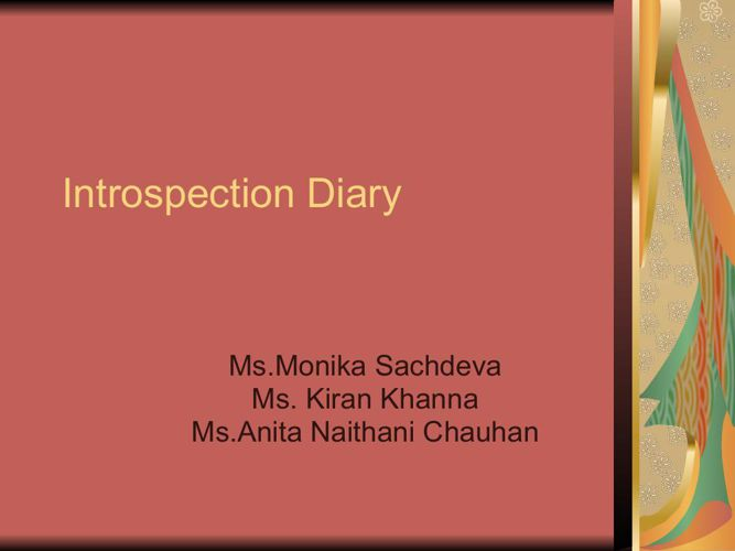 Introspection Diary - Copy.ppt