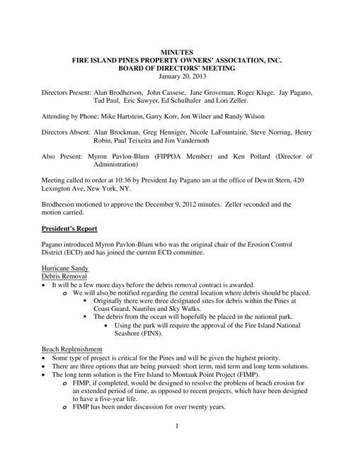 20130120 FIPPOA Minutes