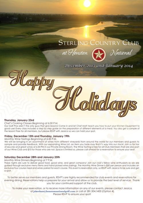 December and January Newsletter