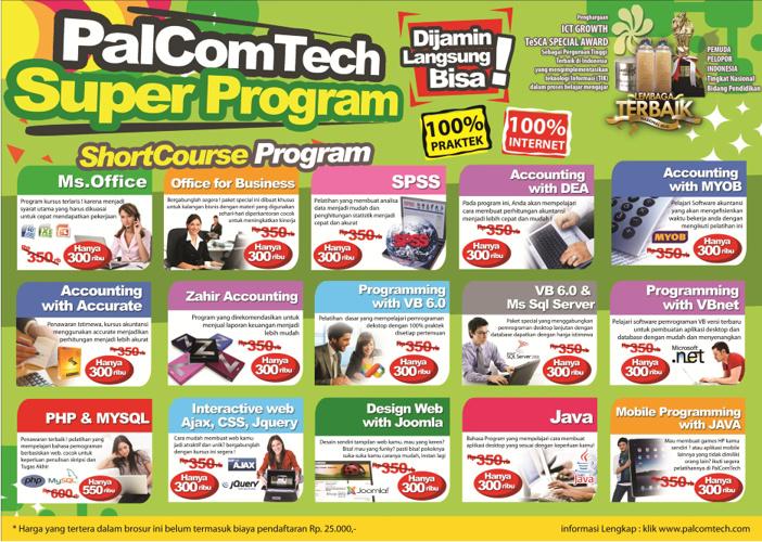Brosur ShortCourse PalComTech Palembang