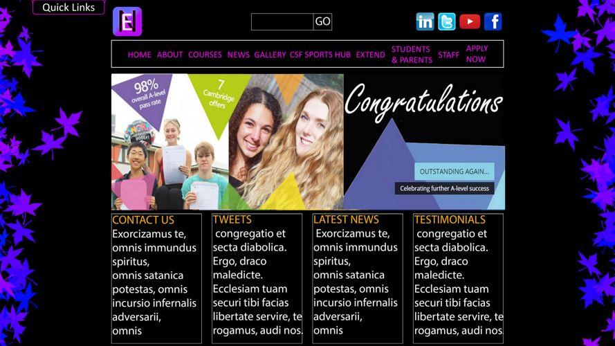 Website mock up - Revisited