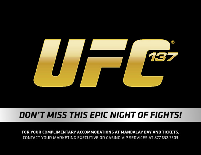 UFC 137: St-Pierre vs Diaz VIP