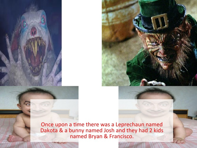 The bunny and Leperchaun