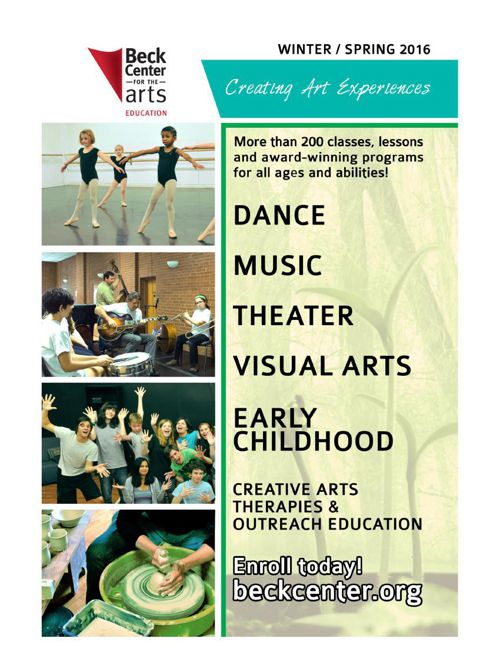 Beck Center Winter/Spring Class Catalog 2016