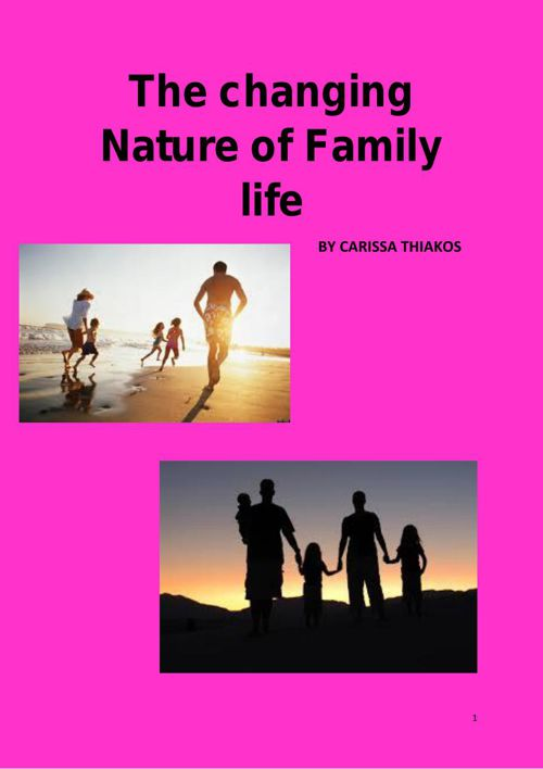 Family and work Assigment 4