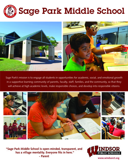 Sage Park Middle School Brochure