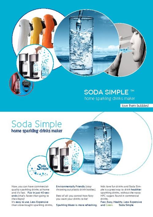 Soda Simple:  brochure:  A4 size