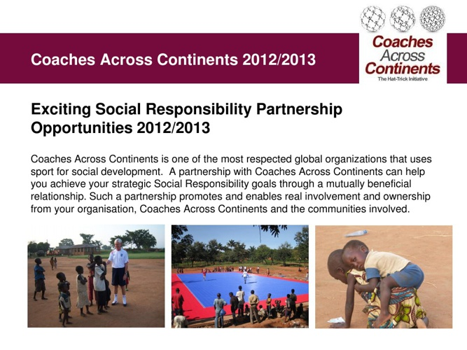 Coaches Across Continents Corporate Social Impact 2014-2016