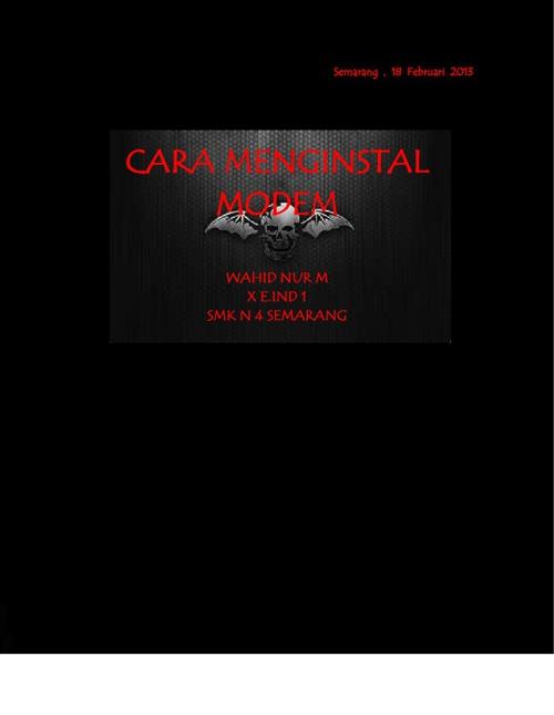 CARA MENGINSTALL MODEM