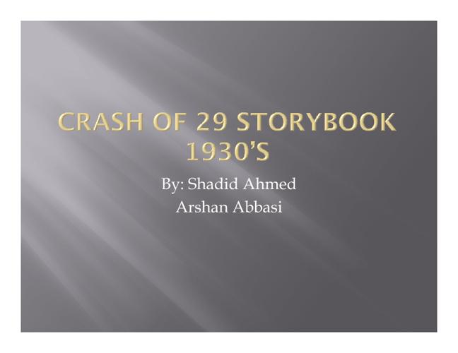 CRASH OF 29