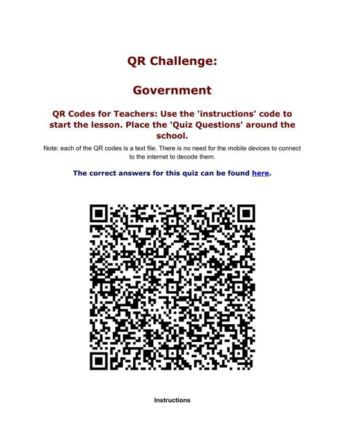 Government QRCode ChallengeLME550
