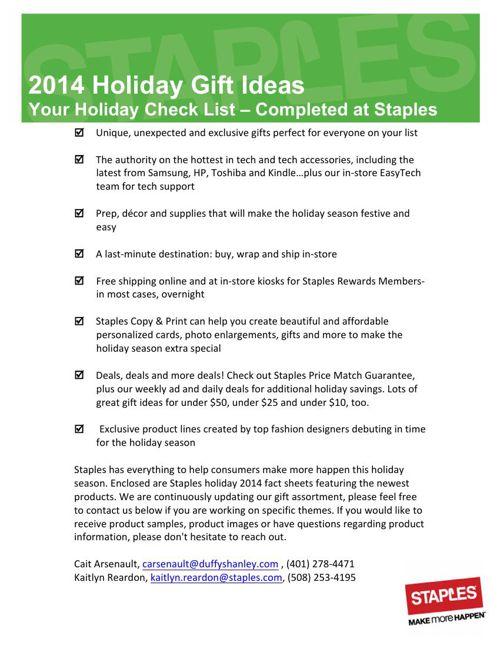 Staples 2014 Holiday Lookbook