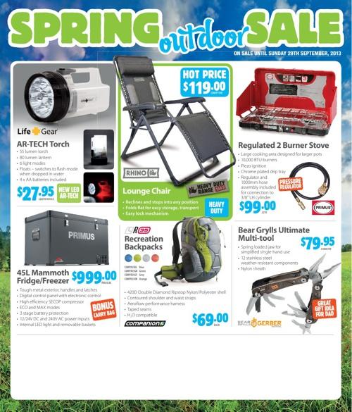 Primus Spring Outdoor Sale 2013