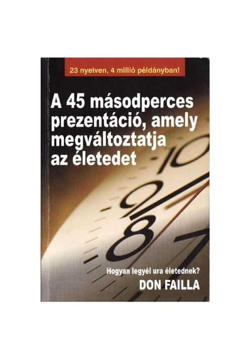 45 másodperces könyv