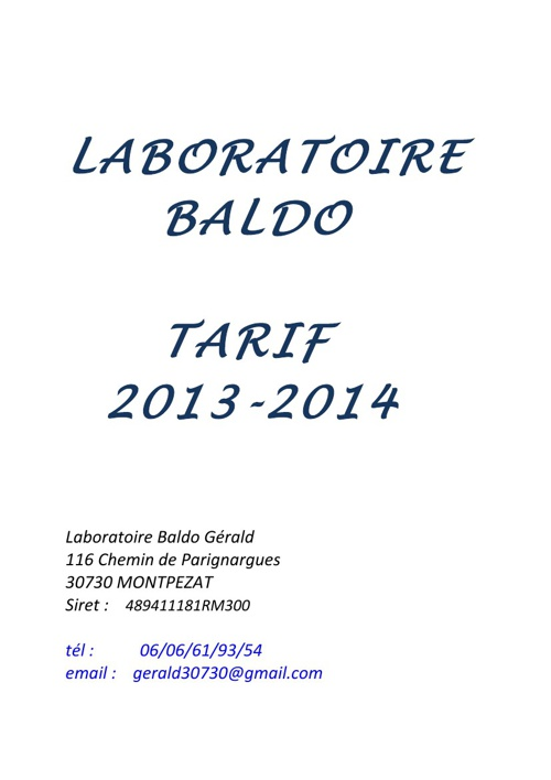 Copy of LABORATOIRE BALDO