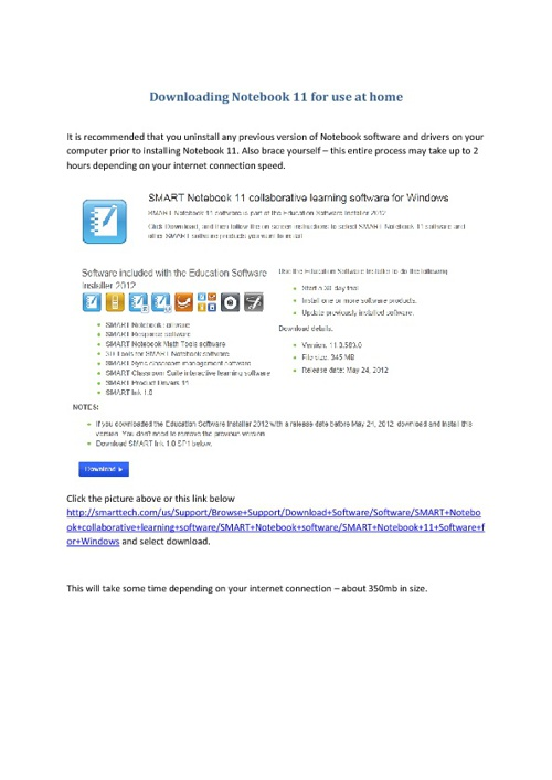 Smartboard 11 Instructions