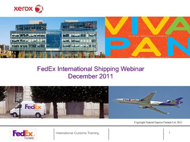 Xerox Shipping Webinar - Reg Solutions