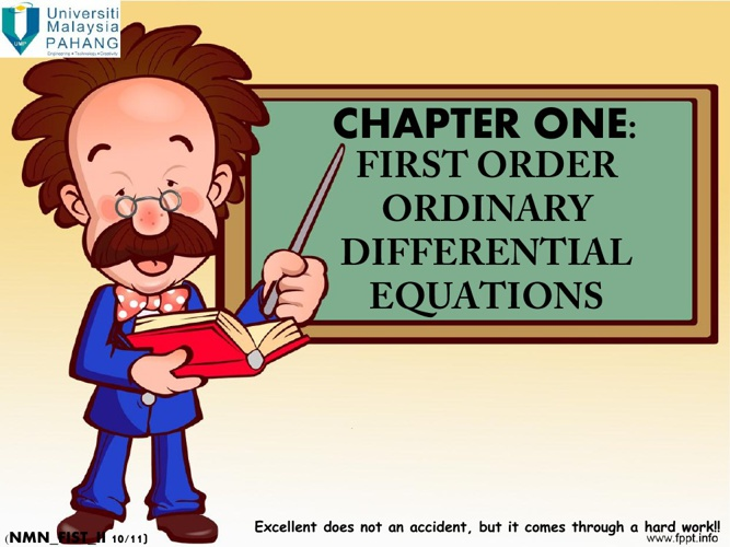 First Order Differential Equations