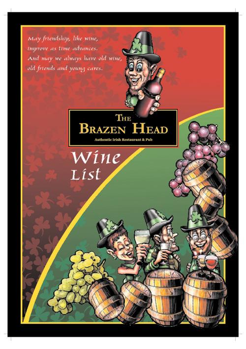 Brazen Head Wine List