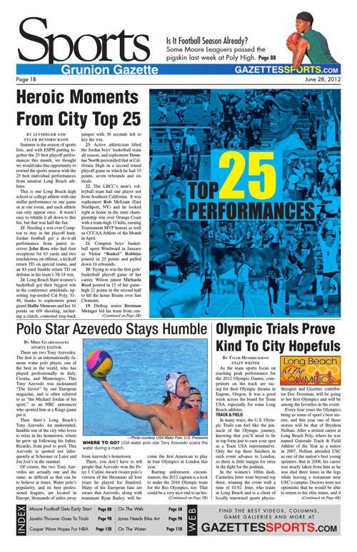 Gazette Sports | June 28, 2012