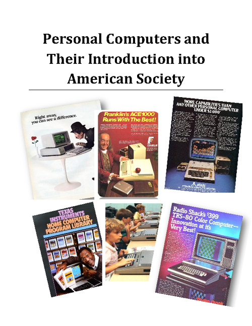 Personal Computers and Their Introduction into American Society