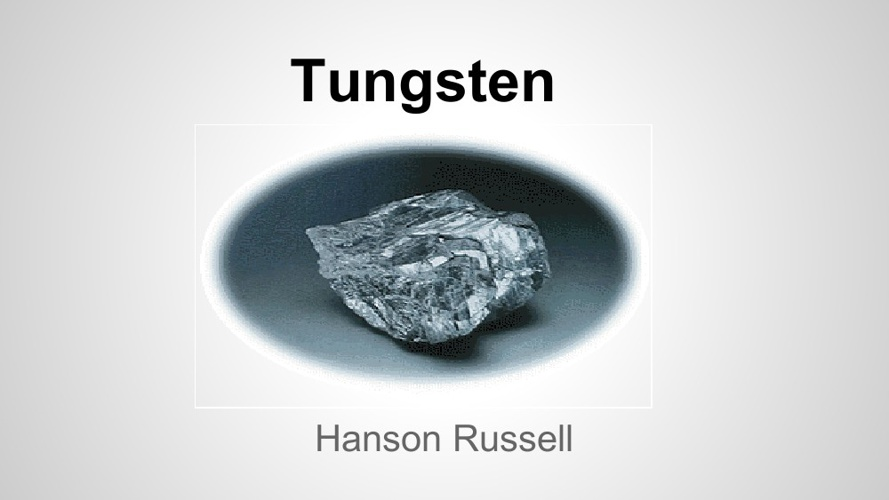 Element Research Project-Tungsten