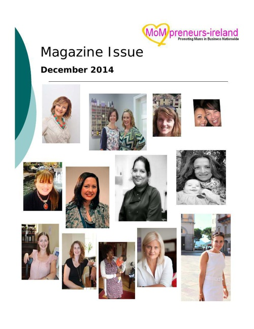 Mompreneursireland December Magazine  Issue
