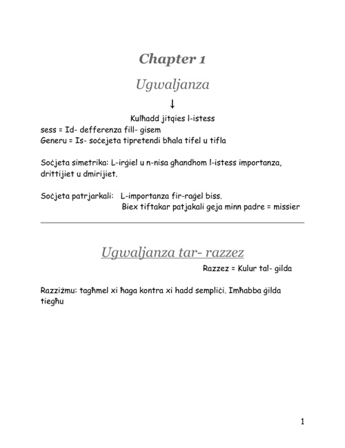 Studu Socali Notes