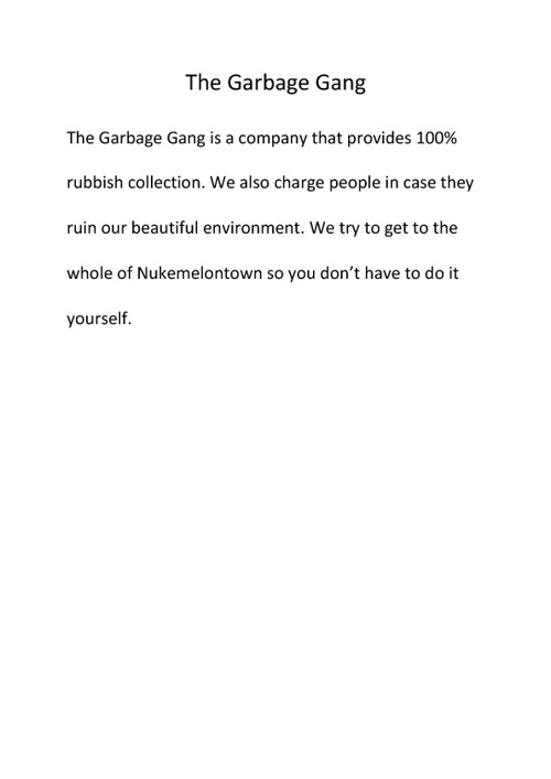 The garbage gang