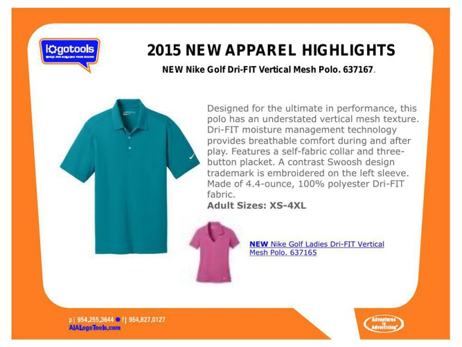 2015 NEW PRODUCT-APPAREL HIGHLIGHTS