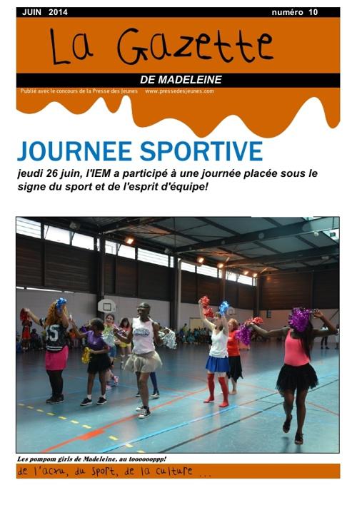 La gazette de Madeleine n°10 juin 2014