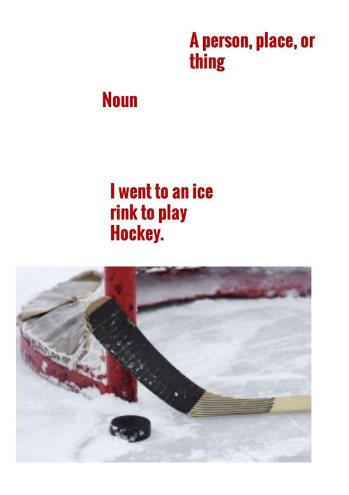 Hockey Parts of Speech