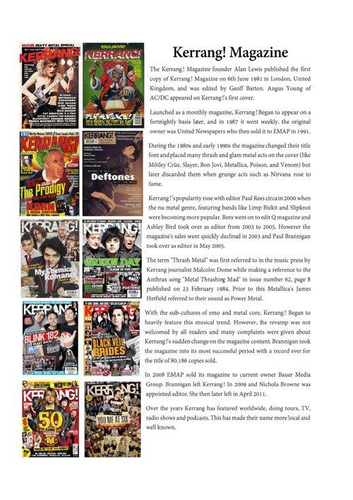 Kerrang history