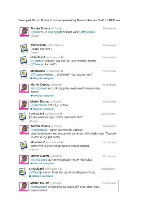 Twitteren met Tweepgast @Titaantje