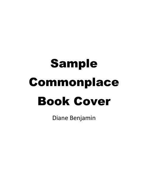 Copy of Sample Commonplace Book