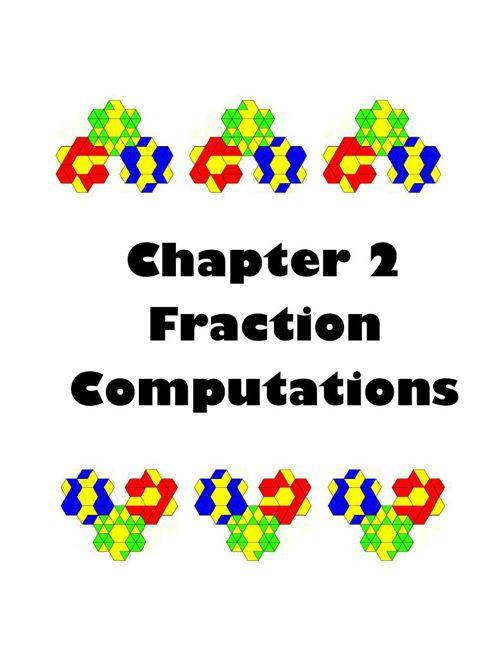 Chapter 2 Fraction Computations (Student Verison)
