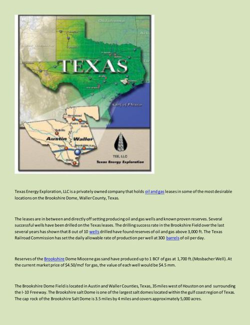 Texas Energy Exploration LLC - Acquisition