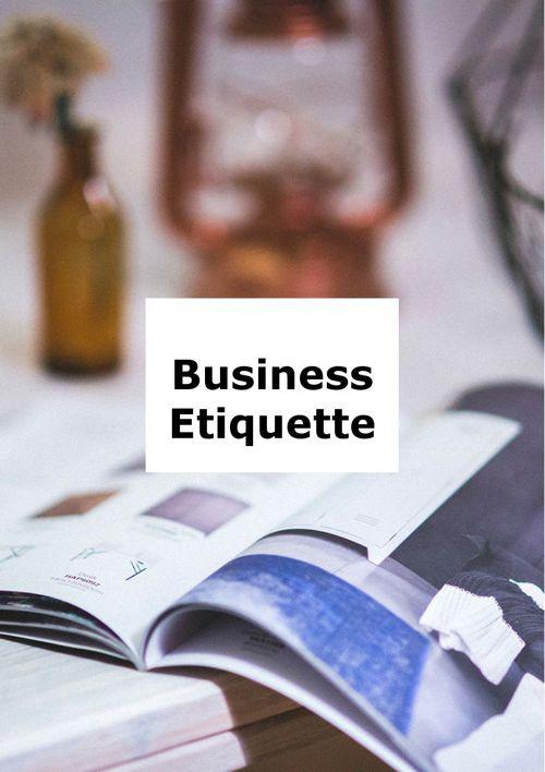 5.2. Business Etiquette