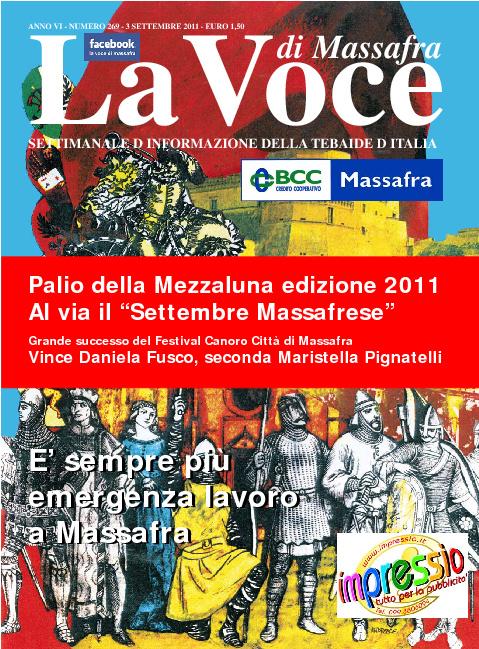 la voce di massafra n. 269 del 3 settembre 2011