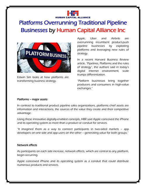 Pipeline Businesses by Human Capital Alliance Inc