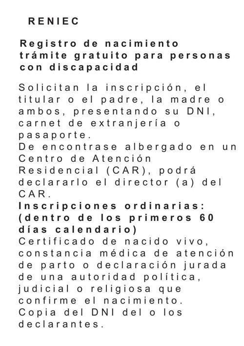 Registro de nacimiento