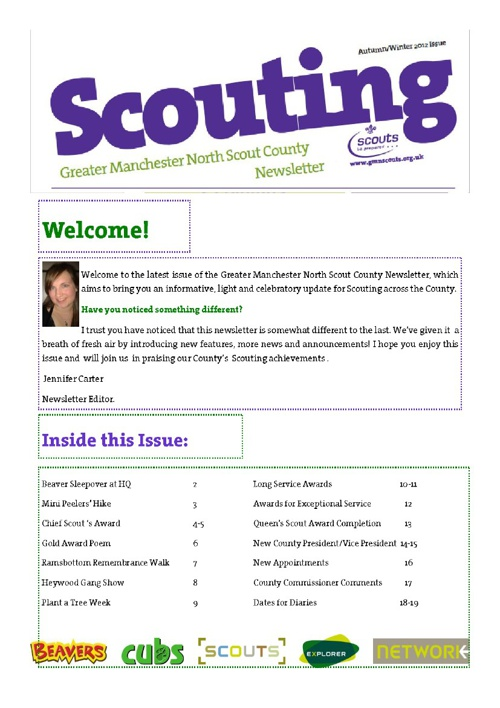 Greater Manchester North - County Newsletter (December 2012)