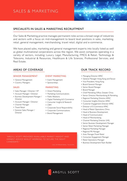 Argyll Scott APAC - Sales and Marketing Recruitment