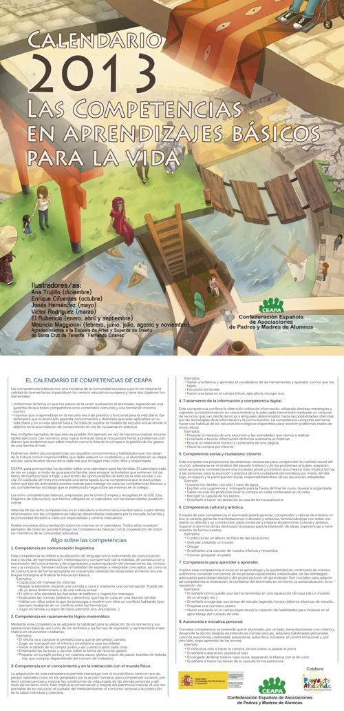 Calendario 2013 — Las competencias básicas